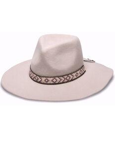 Nikki Beach Women's Tess Aztec Beaded Band Wool Felt Western Hat , Mauve, hi-res