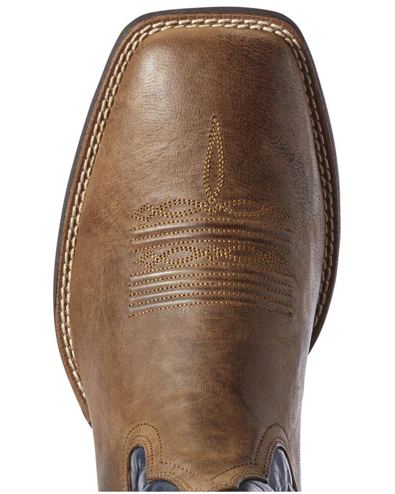 Ariat Men's Spruce Holder Western Boots - Wide Square Toe, Brown, hi-res