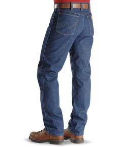 Wrangler Men's FR Flame Resistant Relaxed Fit Work Jeans , Denim, hi-res
