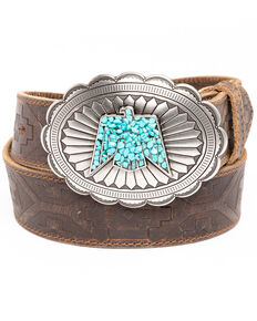 Idyllwind Women's On The Fast Lane Embossed Belt, Brown, hi-res