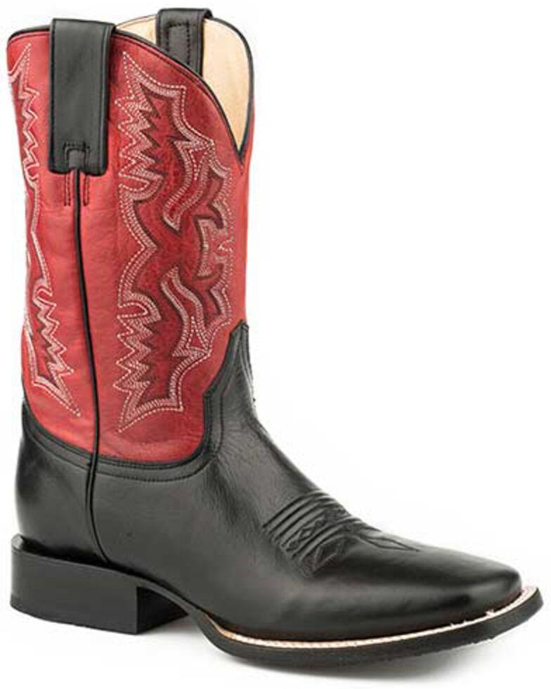 Roper Men's Tony Western Boots - Square Toe, Black, hi-res