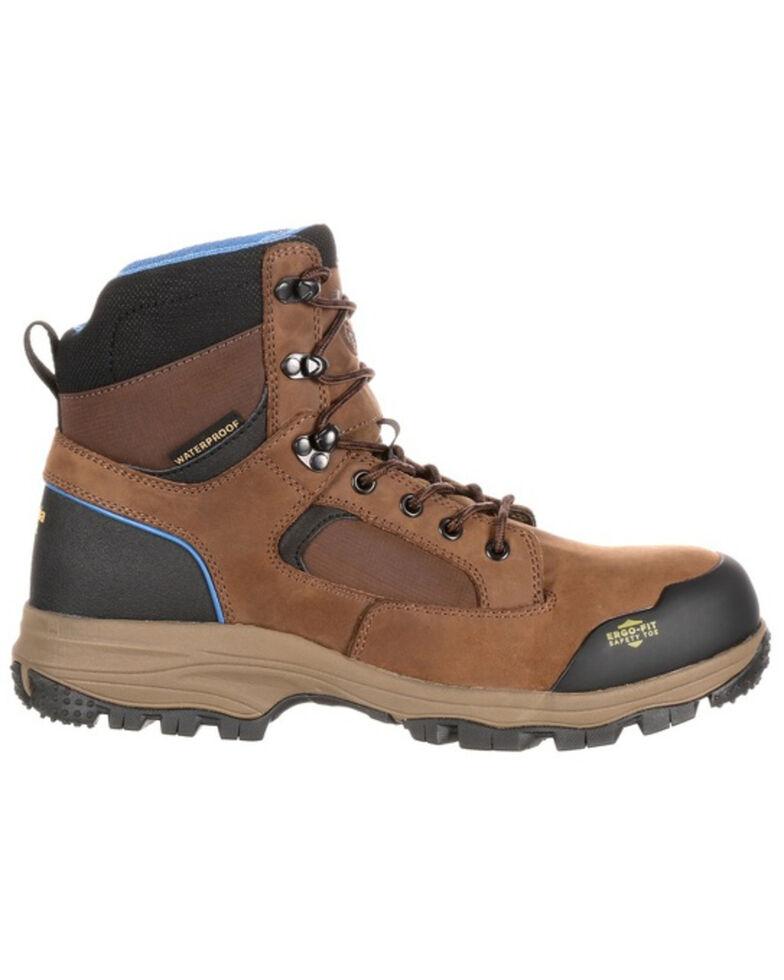 Georgia Boot Men's Blue Collar Waterproof Work Boots - Composite Toe, Distressed Brown, hi-res