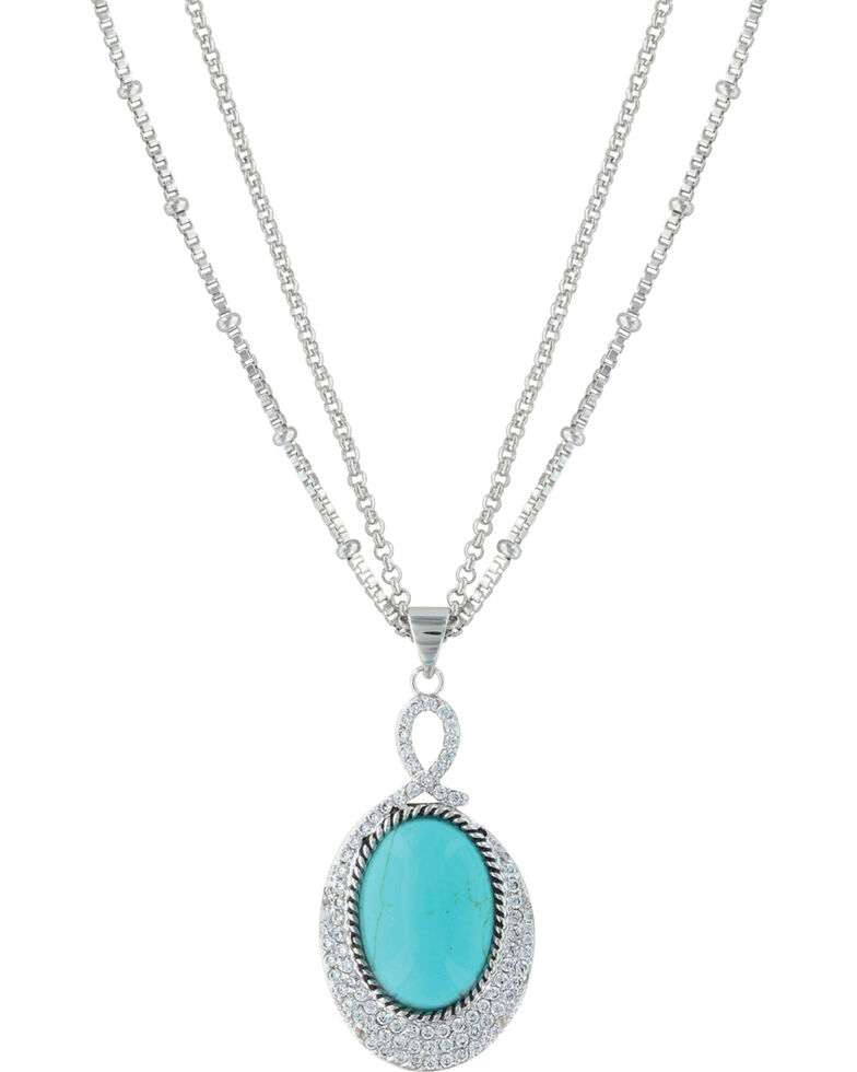 Montana Silversmiths Women's Silver Curling Path Necklace , Silver, hi-res