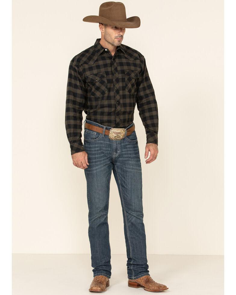 Resistol Men's Black Percy Priest Plaid Long Sleeve Western Shirt , Black, hi-res