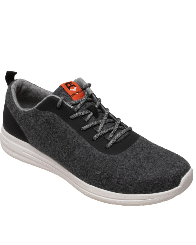Freeshield Men's Real Wool Casual Shoes, Charcoal, hi-res