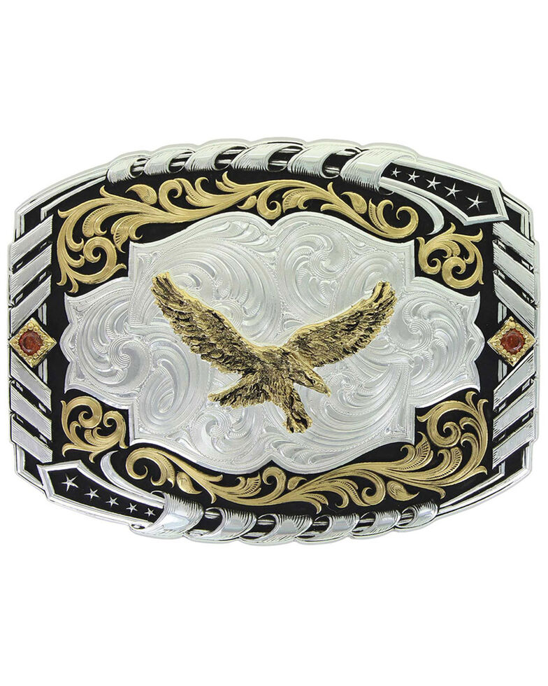 Montana Silversmiths Women's Cantle Roll Buckle, Silver, hi-res