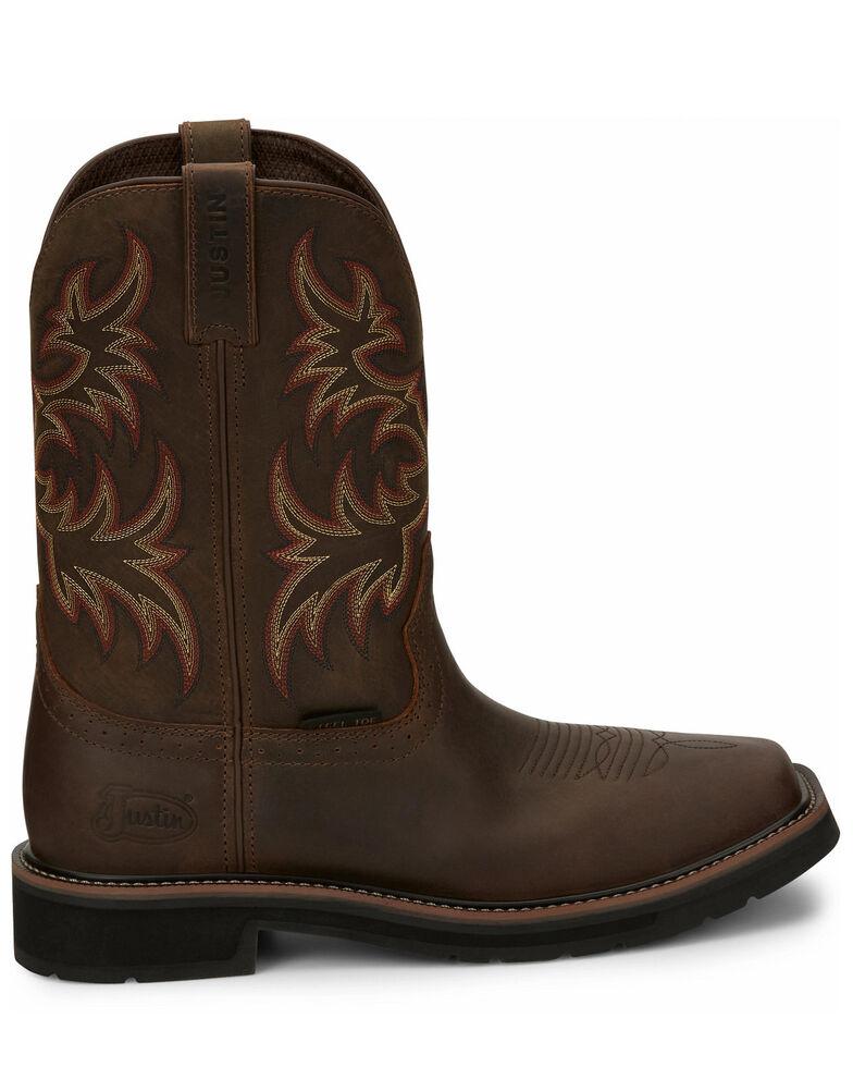 Justin Men's Driller Western Work Boots - Steel Toe, Tan, hi-res