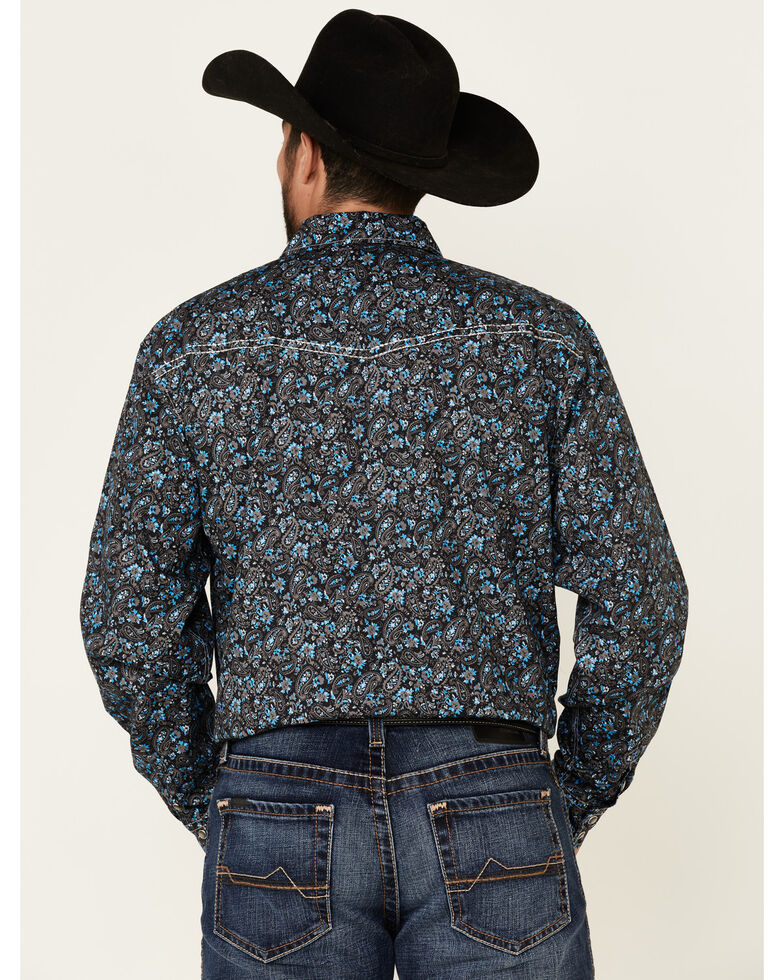 Cowboy Hardware Men's Multi Range Paisley Print Long Sleeve Western Shirt , Multi, hi-res