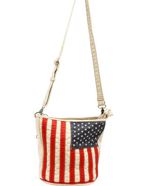 Blazin Roxx Women's Gun Toting American Slim Bucket Bag, Patriotic, hi-res