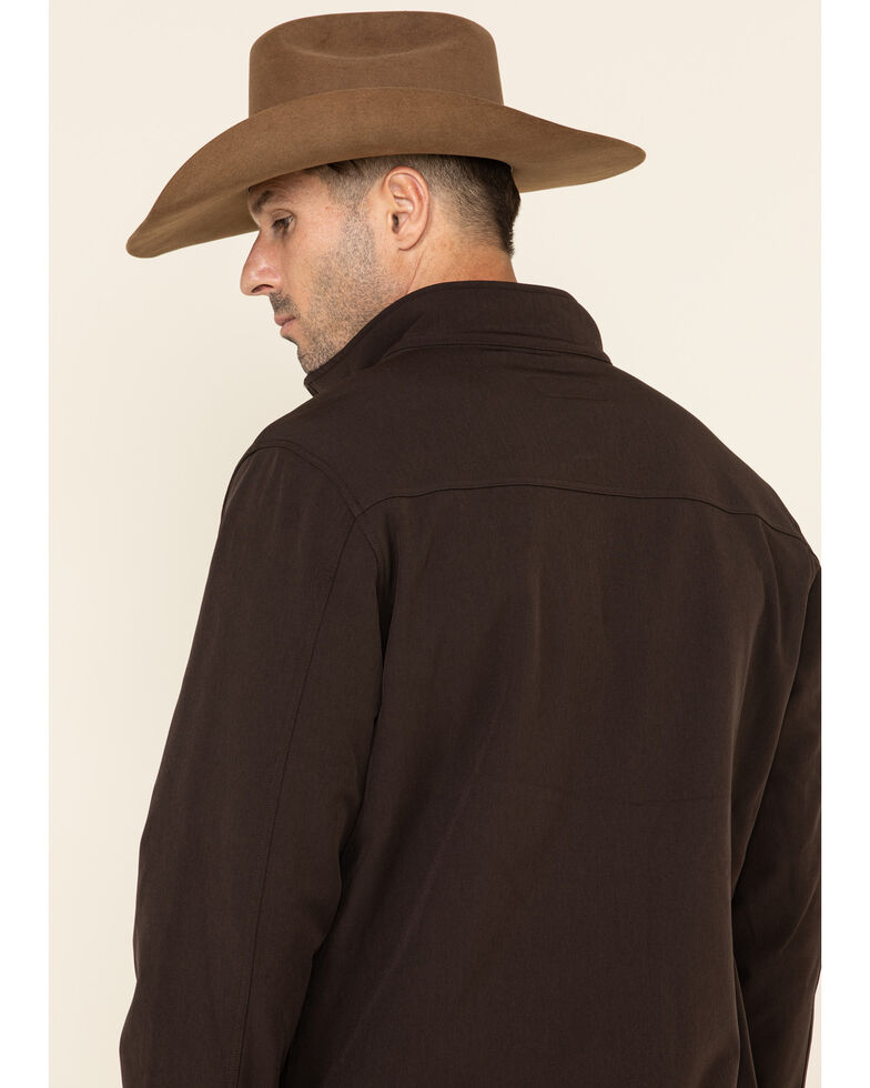 Cody James Core Men's Steamboat Softshell Bonded Concealed Carry Jacket , Brown, hi-res