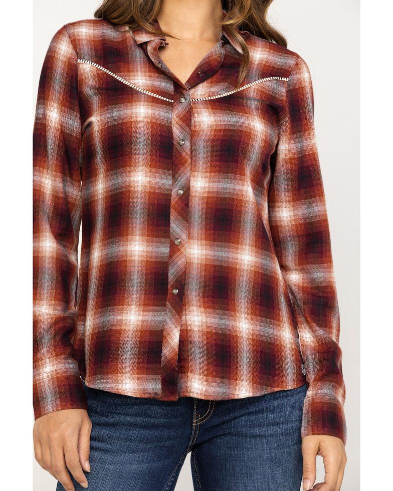 Shyanne Life Women's Rust Plaid Flannel , Rust Copper, hi-res