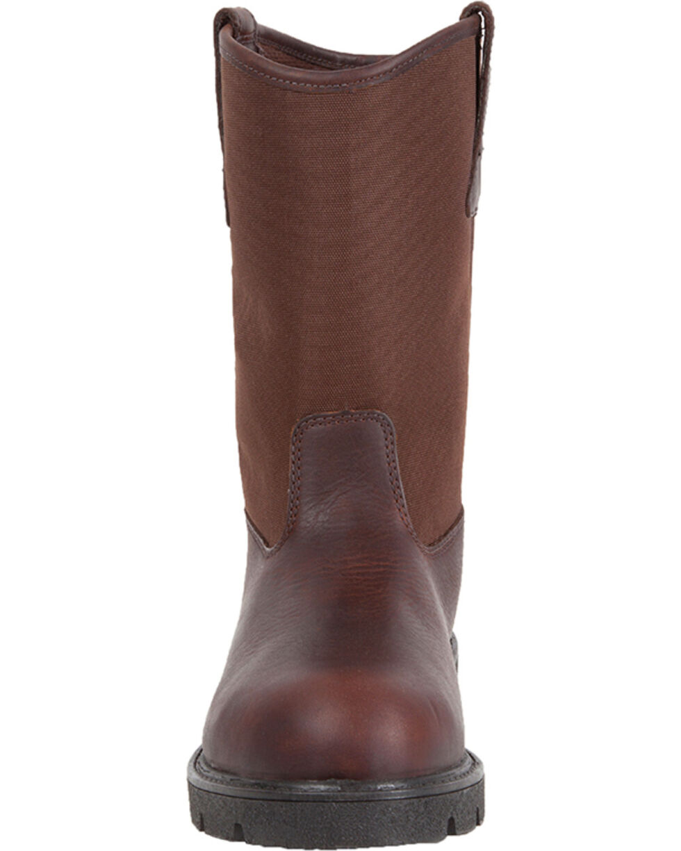 Georgia Men's Homeland Waterproof  Work Boots - Steel Toe , Brown, hi-res