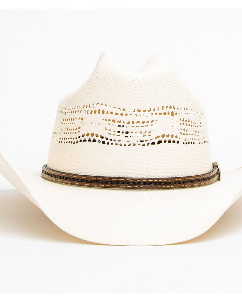 Cody James Men's 20X Low Cattleman Pro Rodeo Straw Hat , Natural, hi-res
