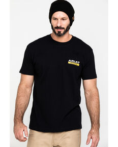 Ariat Men's Black Rebar Cotton Strong Roughneck Graphic Work T-Shirt , Black, hi-res