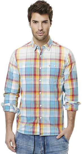 Buffalo Men's Sijax Plaid Long Sleeve Shirt , Plaid, hi-res