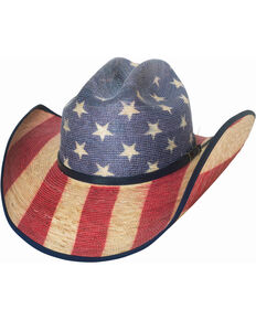 Bullhide Star Spangled 20X American Flag Cowboy Hat , Red/white/blue, hi-res