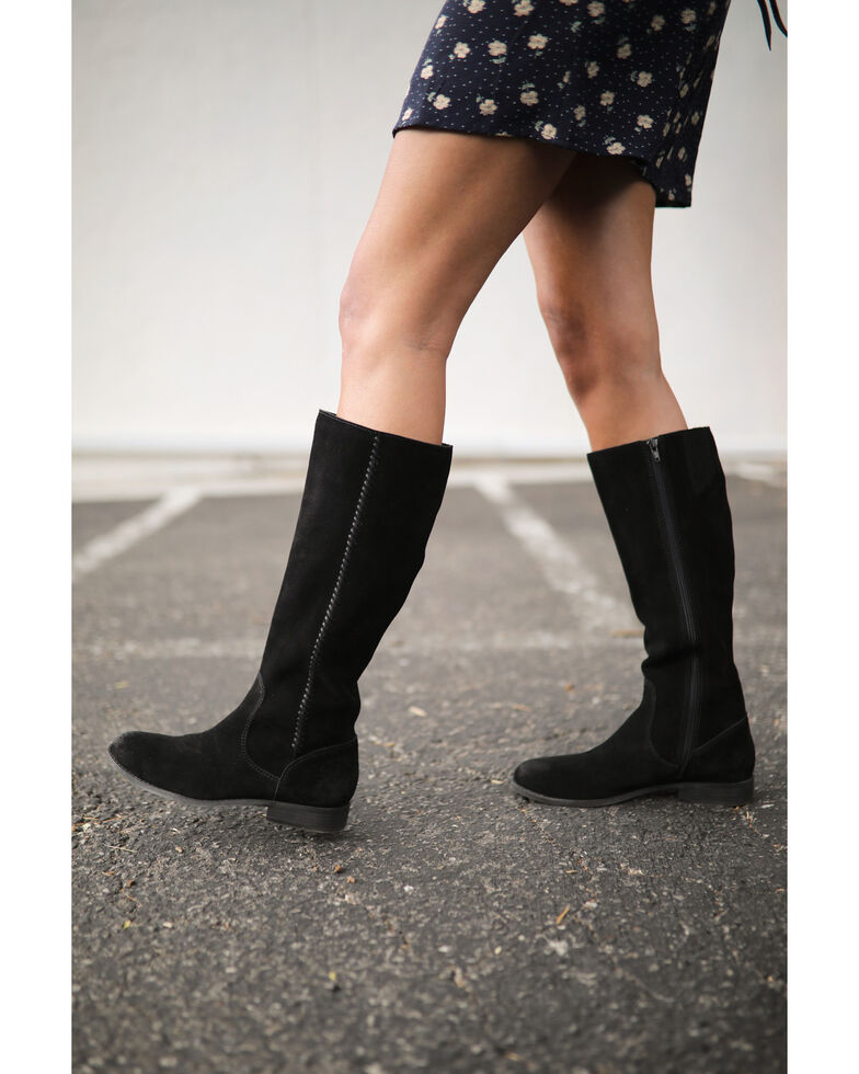 Frye & Co. Women's Jolie Braid Western Boots - Round Toe, Black, hi-res
