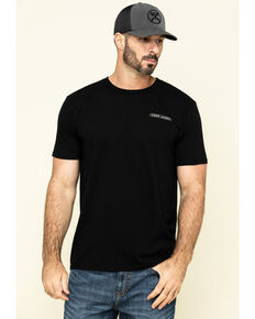 Cody James Men's Black USA Rodeo Graphic Short Sleeve T-Shirt , Black, hi-res