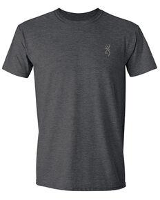 Browning Men's Heather Grey Vintage Back Logo Short Sleeve T-Shirt , Grey, hi-res