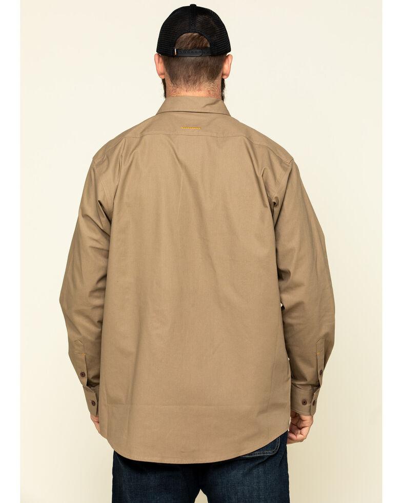 Ariat Men's Khaki Rebar Made Tough Durastretch Long Sleeve Work Shirt , Beige/khaki, hi-res