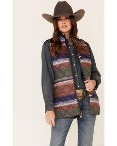 Pendleton Women's Bridger Reversible Down Vest , Olive, hi-res