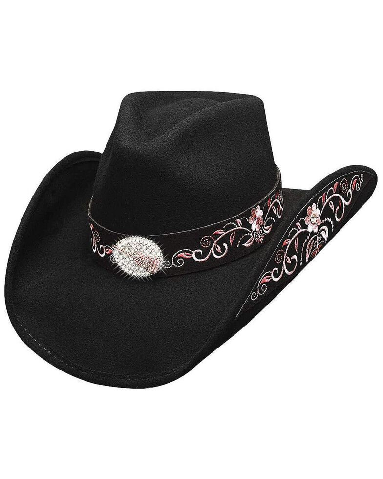 Bullhide Rockin' To The Beat Wool Cowgirl Hat, Black, hi-res