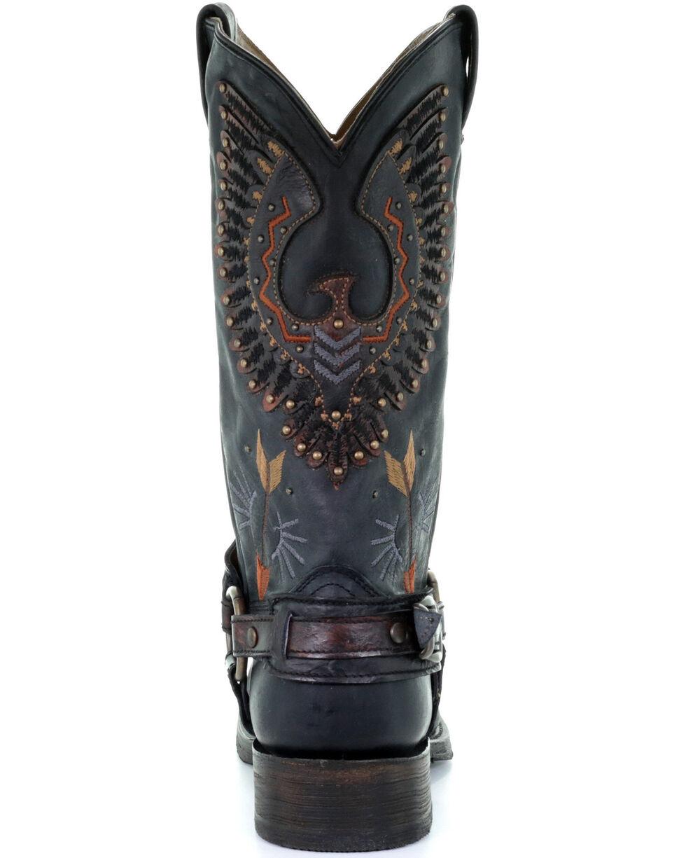 Corral Men's Black Harness Western Boots - Square Toe, Black, hi-res
