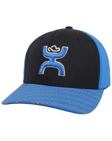 Hooey Men's Black Solo III Flex Fit Ball Cap , Black, hi-res