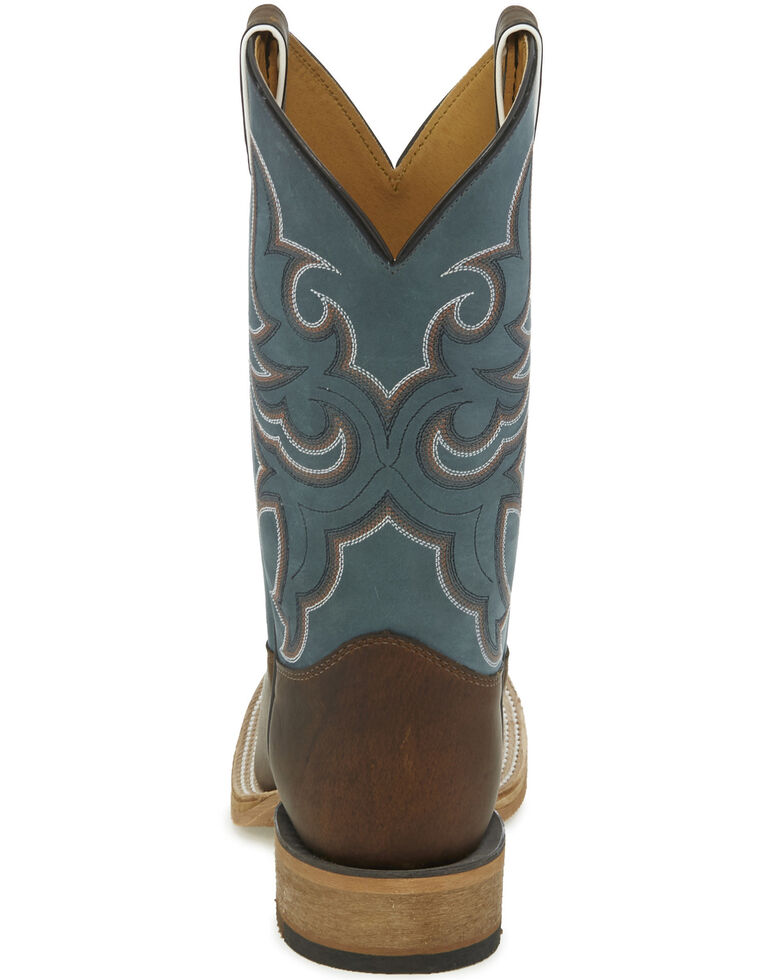 Justin Men's Caddo Crazy Horse Western Boots - Wide Square Toe, Chocolate, hi-res