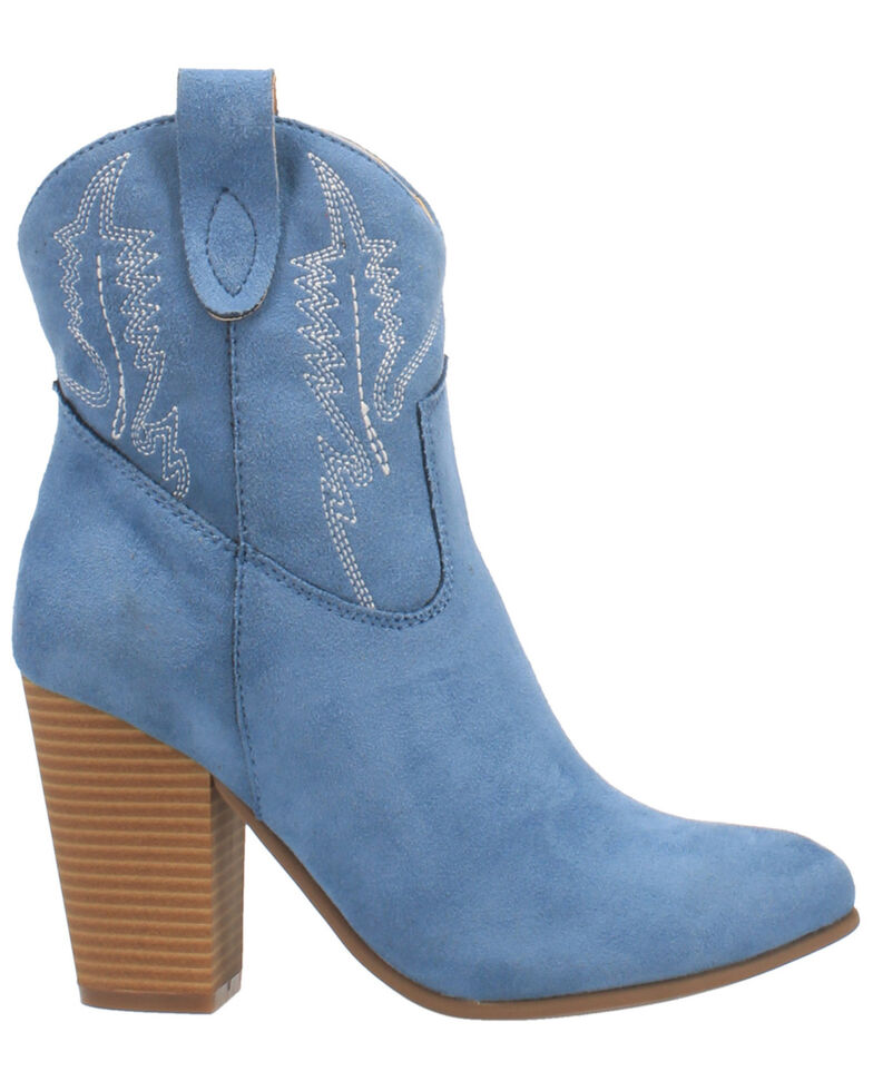 Code West Women's Slayer Fashion Booties - Round Toe, Blue, hi-res