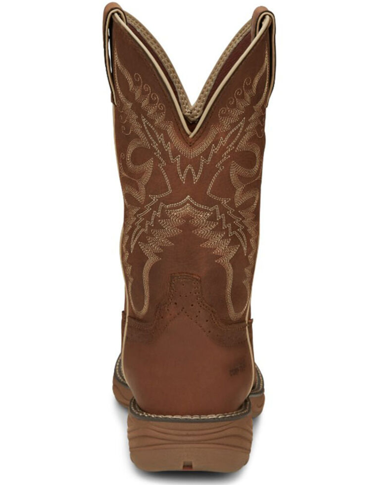 Justin Women's Rush Western Work Boots - Nano Composite Toe, Tan, hi-res