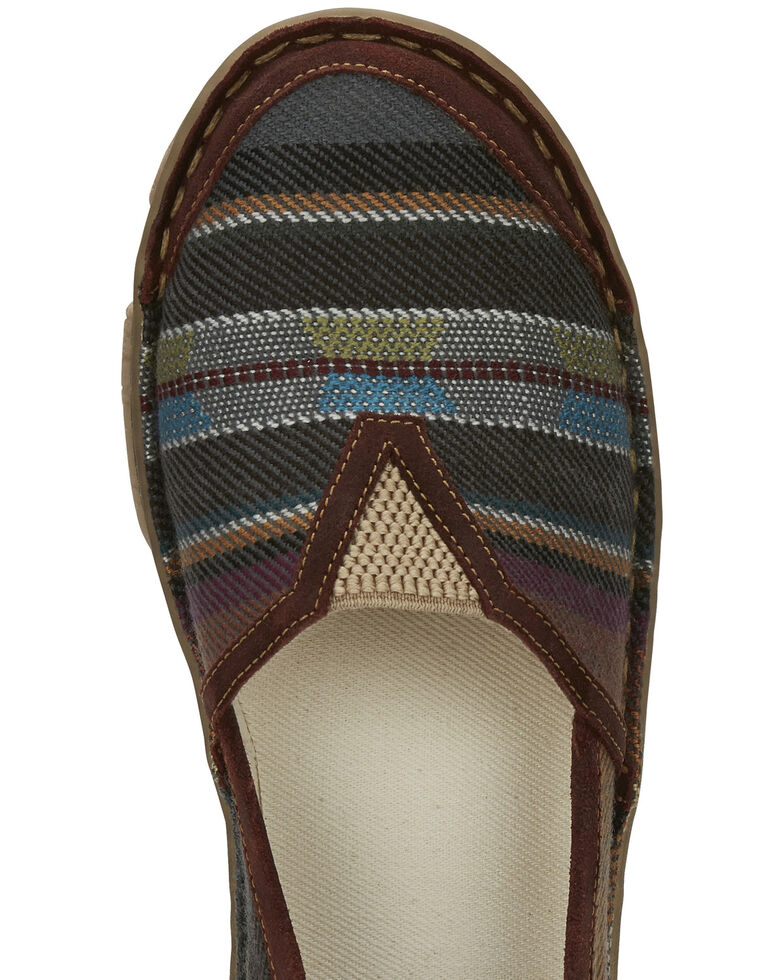 Tony Lama Women's Renata Black Serape Shoes - Round Toe, Black, hi-res