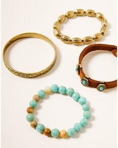 Shyanne Women's Winslow 4pc Bracelet Set, Gold, hi-res