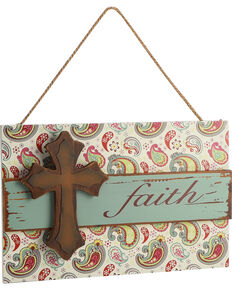 BB Ranch Faith Paisley Wall Sign, No Color, hi-res