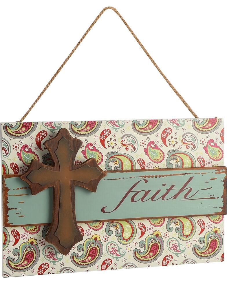 Boot Barn Ranch Faith Paisley Wall Sign, No Color, hi-res