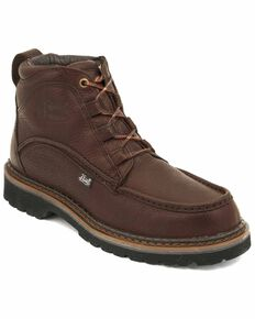 Justin Men's Dugan Casual Lace-Up Boots , Rust, hi-res