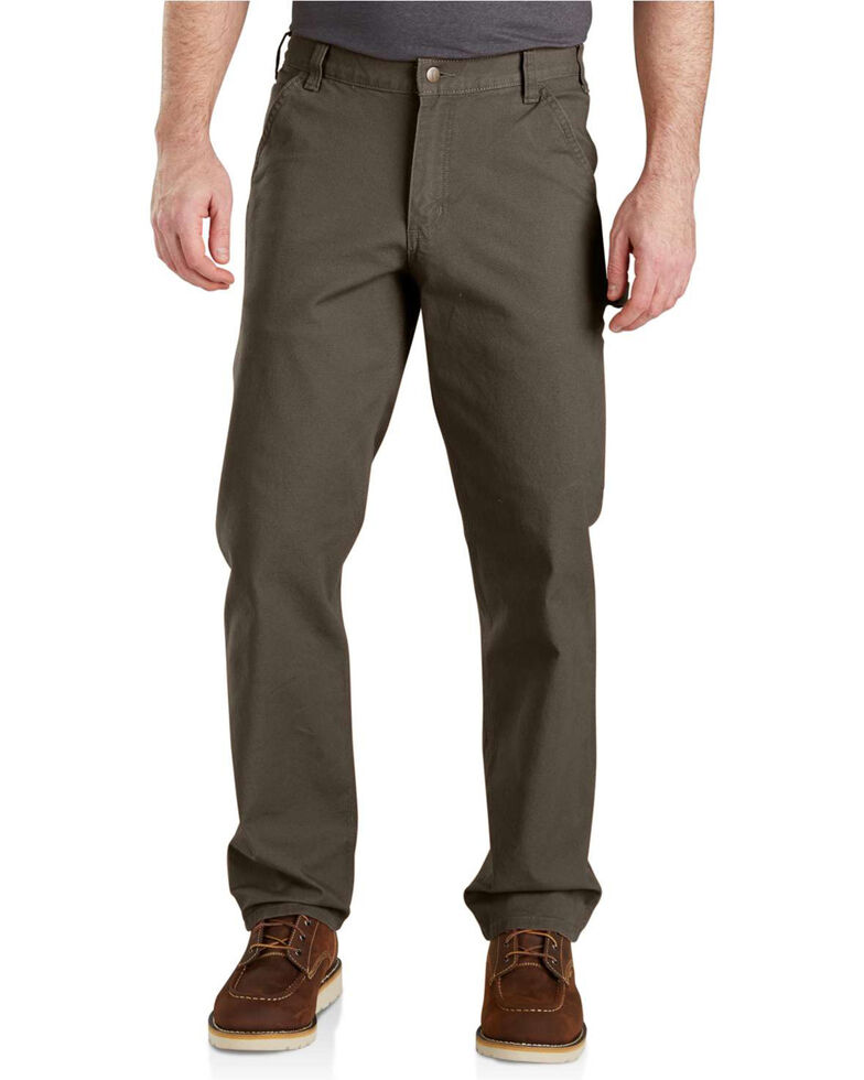 Carhartt Men's Rugged Flex Work Pants, Dark Grey, hi-res