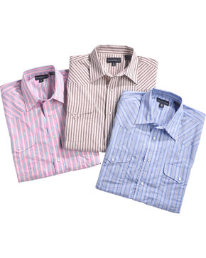 Panhandle Men's Assorted Striped Western Shirt - Big & Tall, Multi, hi-res