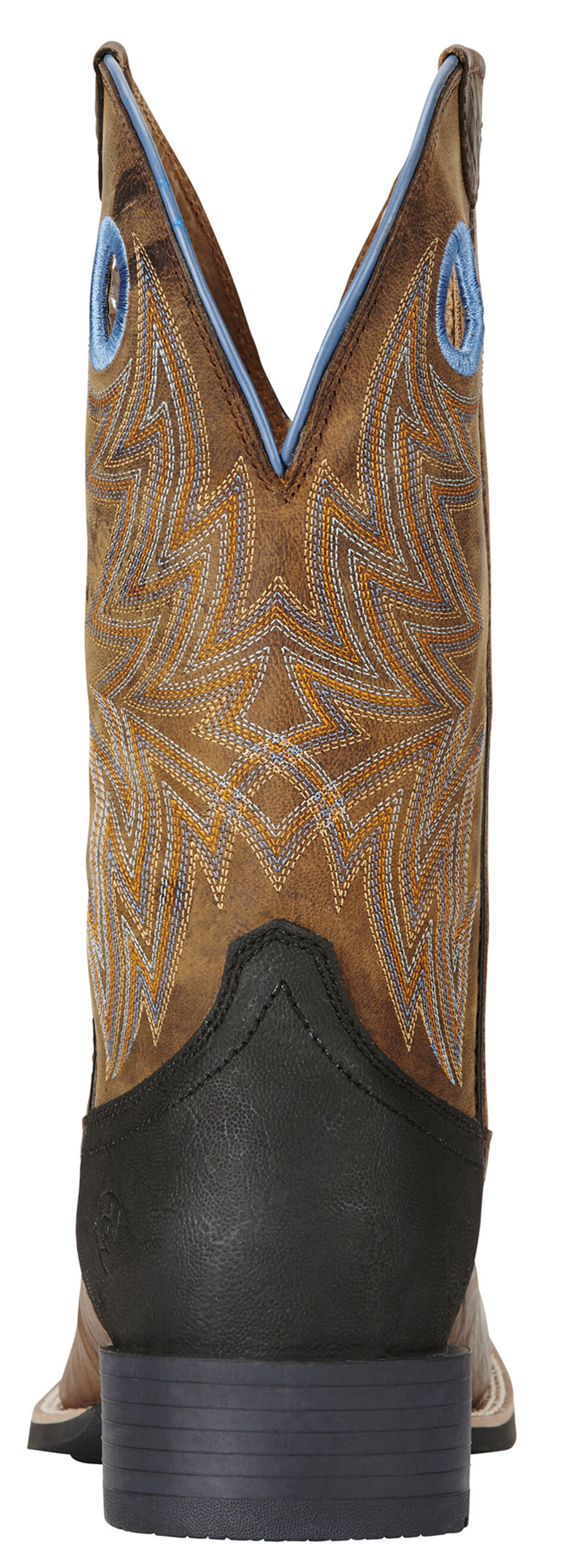 Ariat Men's Bar Top Brown Heritage Cowhorse Western Boots - Square Toe , Brown, hi-res