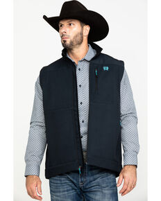 Cinch Men's Charcoal Printed Bonded Vest , Charcoal, hi-res