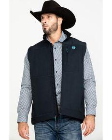 Cinch Men's Charcoal Printed Bonded Vest , Charcoal, hi-res