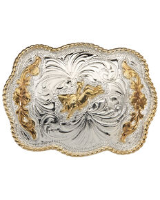 AndWest Girls' Scallop With Bull Rider Buckle, Gold, hi-res