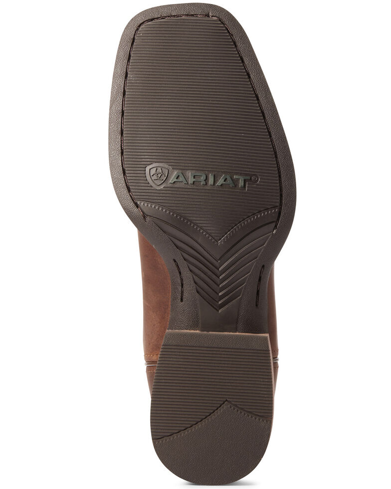 Ariat Men's Everlite Fast Time Western Boots - Wide Square Toe, Brown, hi-res