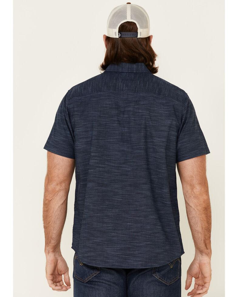 North River Men's Solid Indigo Chambray Short Sleeve Button-Down Western Shirt , Blue, hi-res