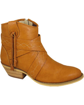 Smoky Mountains Women's Molly Western Booties - Medium Toe , Tan, hi-res