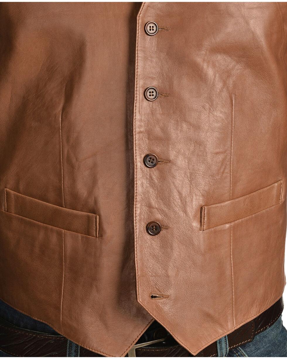 Scully Lamb Leather Vest - Big, Brown, hi-res