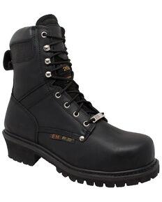 Ad Tec Men's Super Logger Work Boots - Steel Toe, Black, hi-res
