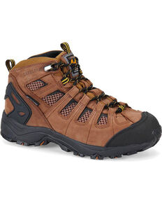 "Carolina Men's 6"" Waterproof 4x4 Hiker Boots - Composite Toe, Brown, hi-res"