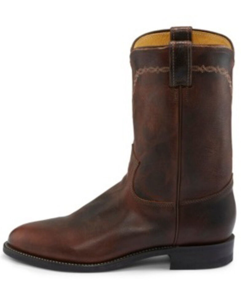 Justin Men's Brock Pecan Western Boots - Medium Toe, Medium Brown, hi-res