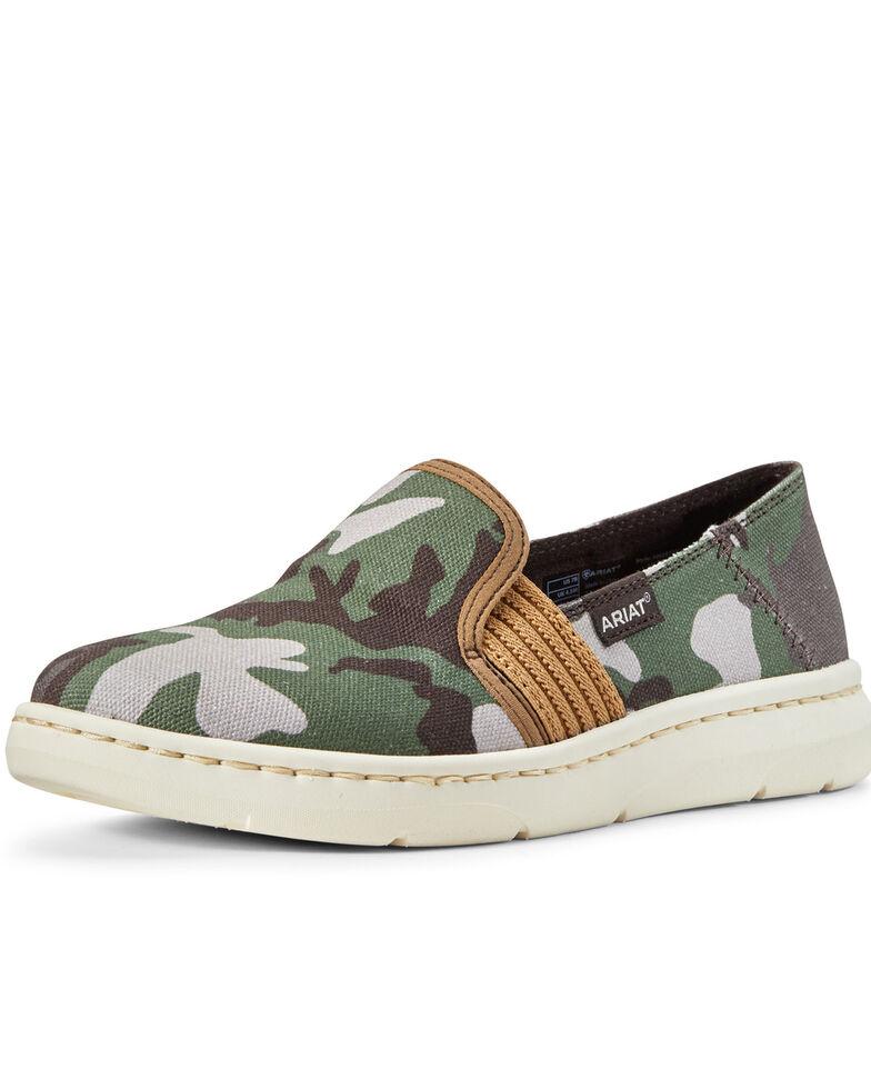 Ariat Women's Ryder Camo Print Slip-On Shoes, Multi, hi-res